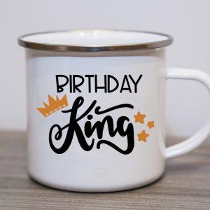 Birthday King Enamel Mug