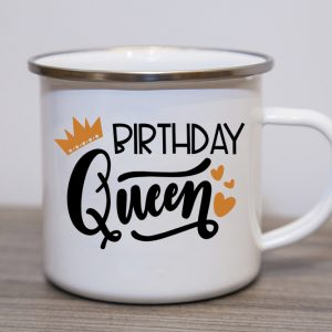 Birthday Queen Enamel Mug
