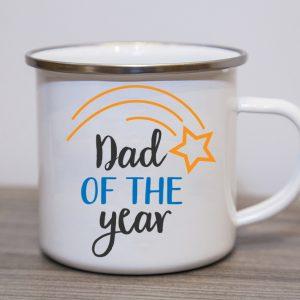 Dad of The Year Enamel Mug