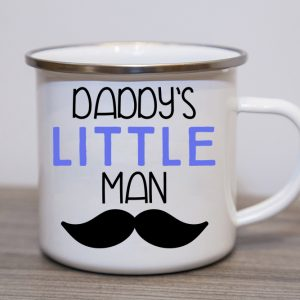 Daddys Little Man Enamel Mug